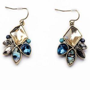 Drop earrings with boho irregular shape stones